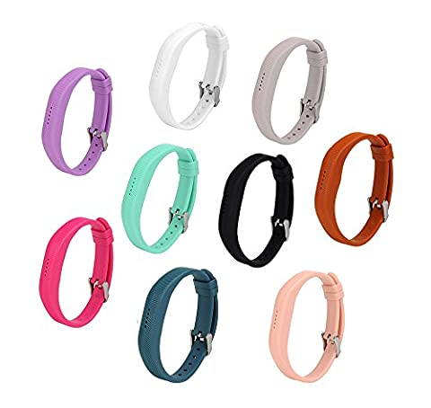 Fitbit Flex 2 Bands,JOMOQ Buckle Design Silicon Replacement Band for
