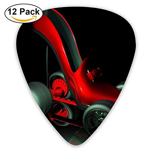 High-heeled Shoes Roller-skating Classic Guitar Pick (12 Pack) for Electric Guita Bass