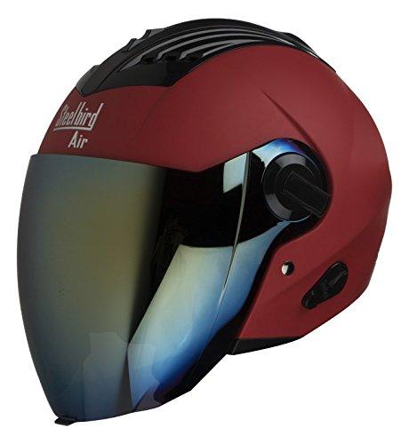 Steelbird SBA-3 Open face Supreme helmet (Red)