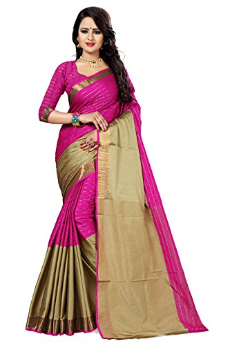 Sarees (Women's Clothing Saree For Women Latest Design Wear New Collection in Latest With Blouse Free Size Saree For Women Party Wear Offer Sarees With Blouse Piece) (S-djchikkupink)