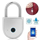 Lucchetto intelligente di sicurezza ricaricabile USB impronta digitale USB in lega di zinco W10 mobile per armadi per ufficio, registratori di cassa, palestra