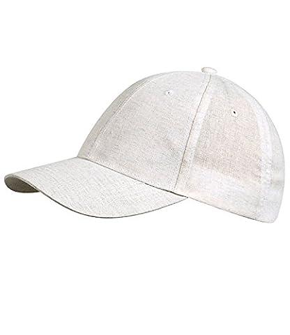 Fiebig Herrenbasecap Basecap Baseballcap Schirmmütze Sommercap Kappe Streetwear einfarbig mit Klettverschluss für Männer (FI-47468-S16-HE2-4-58) in beige, Größe 58 inkl. EveryHead-Hutfibel