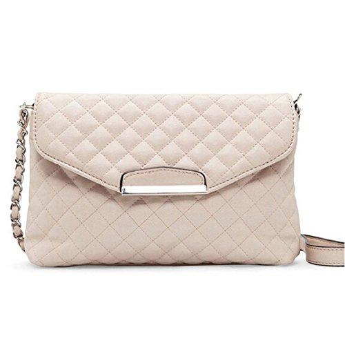 Hmeng Umhängetaschen für Frauen Schultertasche❤️ Ledertasche Clutch Handtasche Tote Handtasche Hobo Messenger (Beige) -