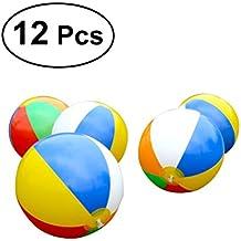 TOYMYTOY 12 Pcs Juguete Pelota Bola de Playa Inflable Natación Piscina bolas de playa inflables para