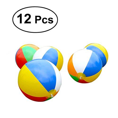 TOYMYTOY 12 Pcs Juguete Pelota Bola de Playa Inflable Natación Piscina bolas...