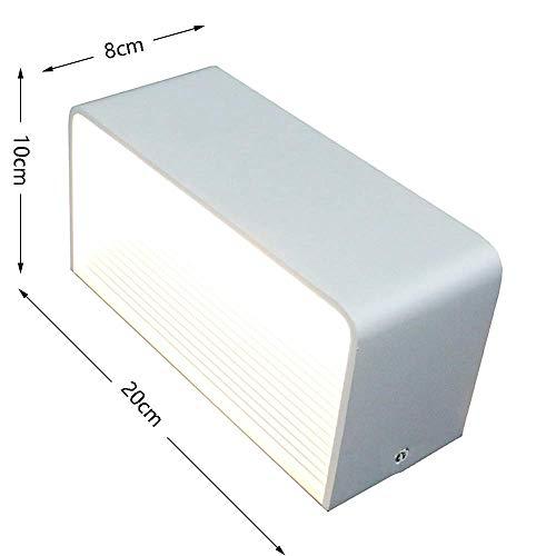 7 Flush (BBG Led Wandleuchten Weiß Rechteck Wandleuchte Aluminium Wandleuchten Wasserdichte Spot Licht Nachtlampe für Wohnzimmer Schlafzimmer Flur Badezimmer Dekorative Flush Wall Wash Lichter 7 Watt)