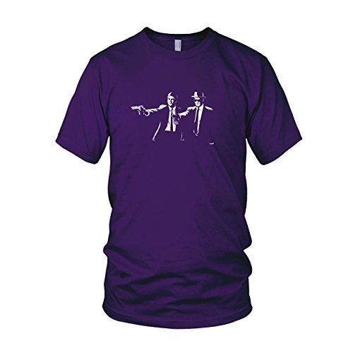 Herren T-Shirt, Größe: L, Farbe: lila (Breaking Bad Meth Tasche Kostüm)