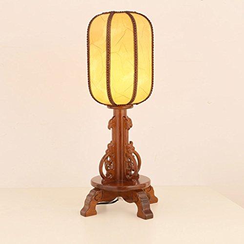 Retro Tischlampe Schlafzimmer Nachttisch antik Holz Tisch Lampe Schlafzimmer Nachttisch Lampe Hotel Büro Wohnzimmer Dekoration Lampe E27 -