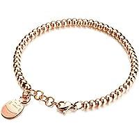 Fate Love 18ct Yellow Gold Lucky Ball Bead Adjustable Slider Bracelet for Women DR2sqJ