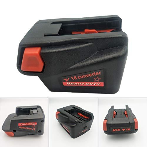 Preisvergleich Produktbild JenNiFer Adapter Konverter Für Milwaukee M18 18V Li-Ion Akku Auf Milwaukee V18 Akku