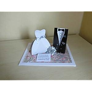 Geldgeschenk Silberhochzeit Brautpaar Verpackung