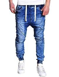 047917398 Pantalones Vaqueros Rotos Biker Jeans de Hombre Slim Fit Ajustados  Elásticos