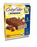 Crisp Bar Wafers con Nocciole Ricoperti di Riso Soffiato e Cioccolato al Latte senza Glutine 3 Snacks da 35 G