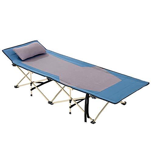 MCLJR Klappbare Liege, Verstellbarer Liegestuhl, für Familien im Freien, Camping, Büro, Mittagspause, Strand,Blue (Gewebe-spray-farbe Rote)