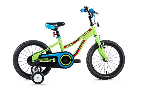 "16\"" Zoll leichtes Aluminium Kinderrad Fahrrad LEADER FOX Keno grün MTB Bike"