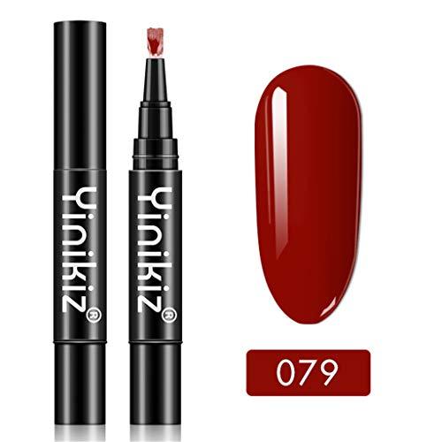 Nagellack, Neueste 3 in 1 Gel Nagellackstift Flash Bright Gloss One Step Nagelgel 18 Farbe Watopi