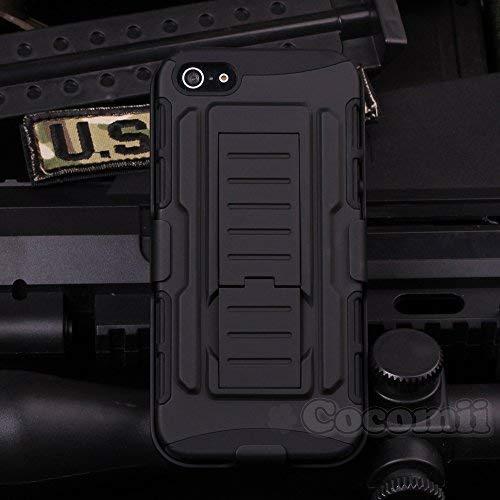 Cocomii Robot Armor iPhone 4S/4 Hülle [Strapazierfähig] Gürtelclip Ständer Stoßfest Gehäuse [Militärisch Verteidiger] Ganzkörper Case Schutzhülle for Apple iPhone 4S/4 (R.Black)