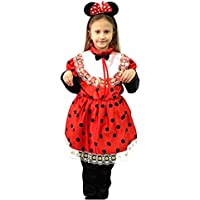 ropa nueva máscara de carnaval de Halloween juego cosplay del traje por el carácter poco minnie mouse pequeñas orejas de ratón con Mikey topoletta pantalones de vestir tg bebé niña chica xl