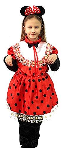 neues Kleidung Karneval Maske Halloween-Kostüm Cosplay Spiel von Charakter minnie kleine Maus kleinen Maus Ohren mit Mikey topoletta Hosen sz das Mädchen-Baby (Mesh-pj)