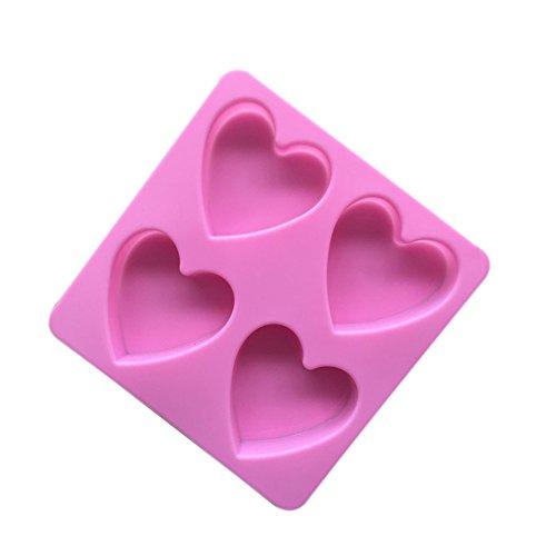 (Toruiwa Kuchenform Silikon Herzform Muffin Eiswürfelform Backen Dessert Cup Cake Pudding Muffin-Backformen (15 * 15 * 2cm))