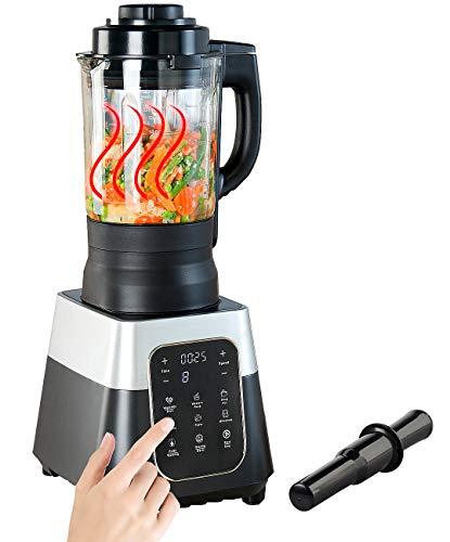 Rosenstein & Söhne Sojamilchbereiter: Profi-Standmixer mit Wärme-Funktion, Touch-Tasten, 1,75 l, 1.500 Watt (Mixer Gastro)