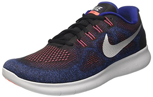 Nike Free RN 2017, Chaussures de Running Homme Multicolore (Black/metallic Silver/hot Punch)