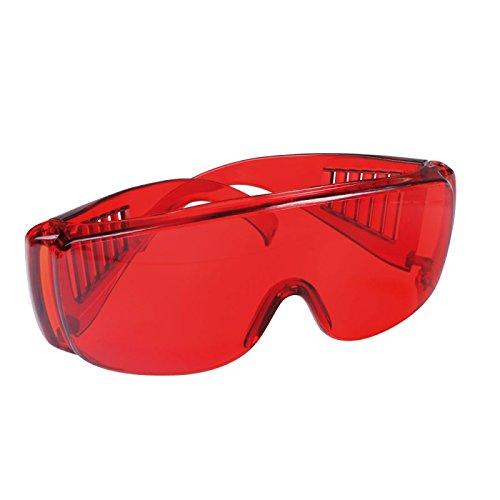 Schutzbrille rot transparent getönt, Brille, Arbeitsbrille, auch für Brillenträger geeignet,...