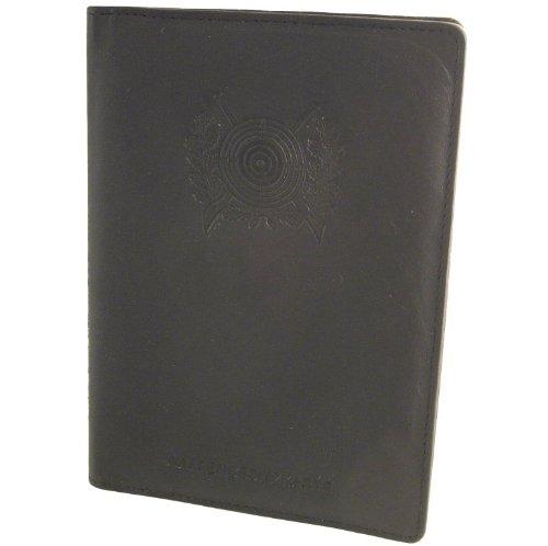 WbK - Brieftasche, Rindleder schwarz, Klarsichtfächern, Schützenscheibe