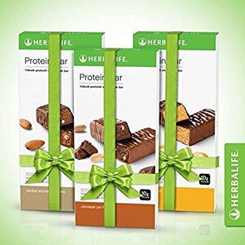 3 x Herbalife Proteinriegel (14 Riegel pro Paket) - Mandel-aloe