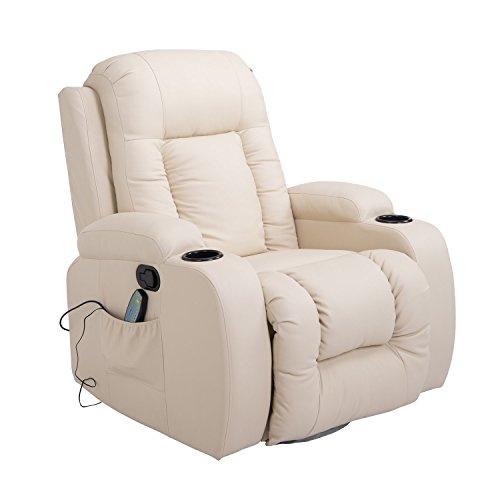 HOMCOM Massagesessel Fernsehsessel Relaxsessel TV Sessel Wärmefunktion mit Fernbedienung...