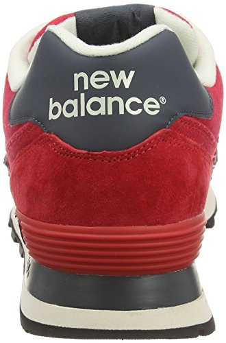 New Balance Ml574, Herren Sneakers Rot (Red/White)