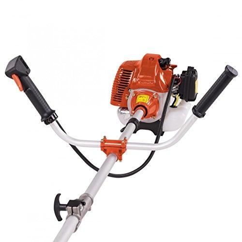 Motorsense Freischneider Rasentrimmer Rasenmäher 3 PS und 52cm³ Orange - 4