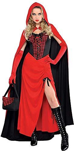 Das Kostümland Langes Rotkäppchen Kostüm für Damen - Red Riding Hood - Gr. ()
