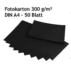 Idea Regalo - cartoncino spesso, cartoncino nero, 50 fogli DIN A4, di alta qualità, 300 G/M²