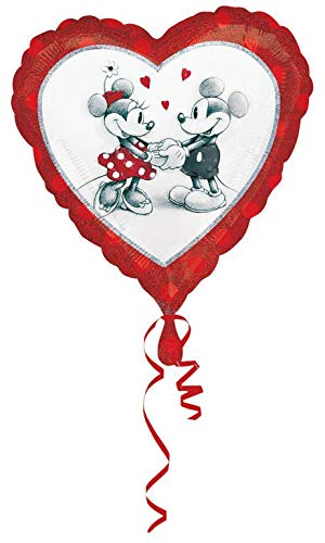 Amscan International 2804001 Disney Mickey und Minnie Liebe holographischen Standard Folie Ballon