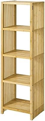 SoBuy® Moderna estantería de bambú, estantería de pared - 5 niveles, FRG121-N, ES