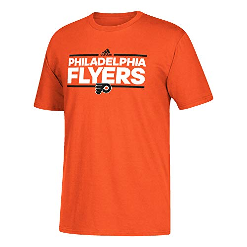 adidas Herren T-Shirt Philadelphia Flyers NHL Go to Dassler Short Sleeve Tee, Orange, XX-Large (Philadelphia T-shirt Flyers Herren)