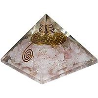 Crocon Rosenquarz Energetische Pyramide Blume des Lebens Edelstein Energie Generator für Reiki Healing Chakra... preisvergleich bei billige-tabletten.eu