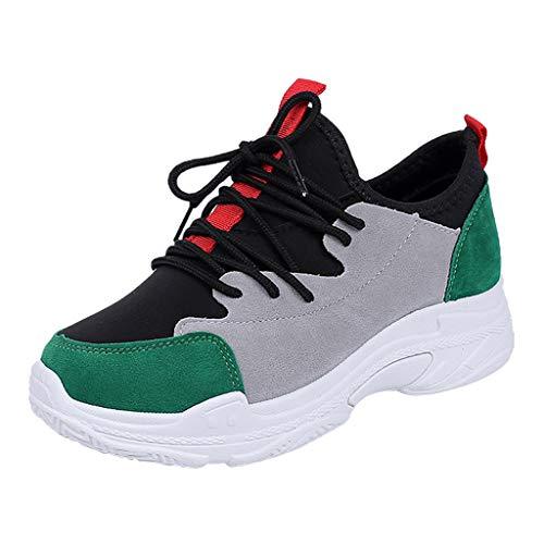 Toasye Sneakers für Damen, Damen Gemischte Farben Flache Ferse Lace-Up Casual Sportschuhe