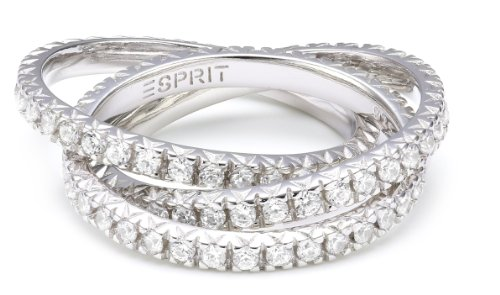 Esprit Jewels Damen-Ring Brilliance Triple white 925 Sterlingsilber 18 S.ESRG91885B180