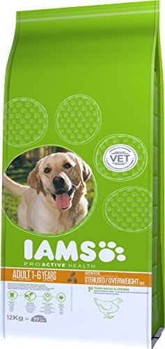 Iams ProActive Health Complete and Balanced Dog Food with Chicken for Sterilised and Overweight Dogs All Breeds, 12 kg 3
