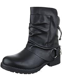 Ital-Design - botas estilo motero Mujer