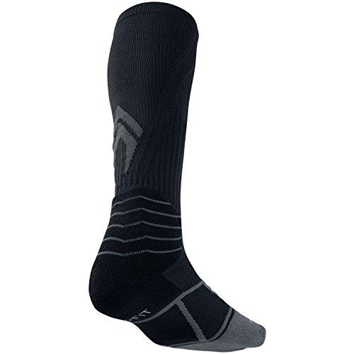 Nike Women's Elite Vapor OTC Baseball Socks Black Flint Grey Small