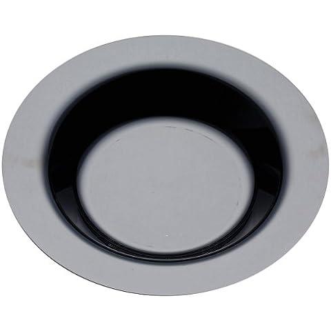 MOZAIK 20 platos hondos de plástico de 23cm en color negro