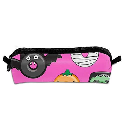ey Pink Pumpkin Frankenstein B Pencil Bag Pencil Case Pen Zipper Bag Pouch Holder Makeup Brush Bag for School Work Office 8.26 X 2.16 X 1.96 inch ()