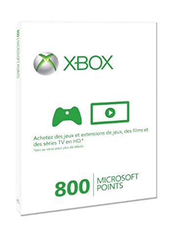 Carte Xbox Live 800 Microsoft points