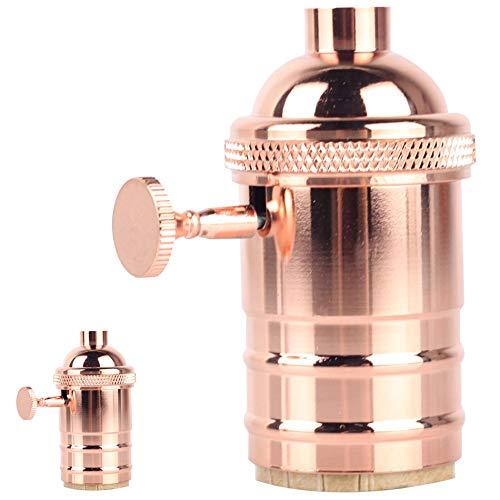 Tianfan 2 pièces/Lot vintage Laiton support de lampe Interrupteur avec ON et Off Ampoule Douille de finition pour E27