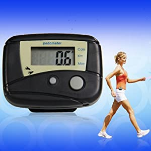 41FIVJCQVYL. SS300  - Distance Calorie Counter Pedometer Walk Fitness Black