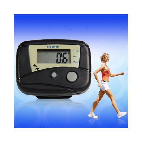 Distance Calorie Counter Pedometer Walk Fitness Black