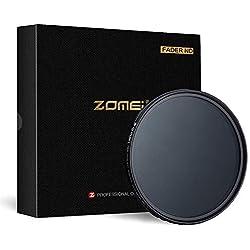 ZOMEi Nouvelle Génération NDX Filtre à Densité Neutre Variable 67mm Réglable (ND2 à ND400) pour Nikon Canon Sony Fuji DSLR Caméra